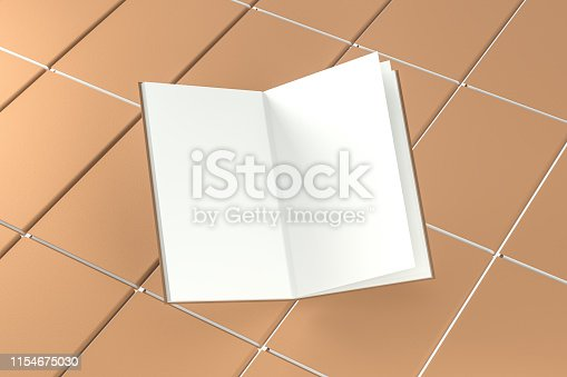 621728016istockphoto The organized hard cover notebooks, 3d rendering. 1154675030
