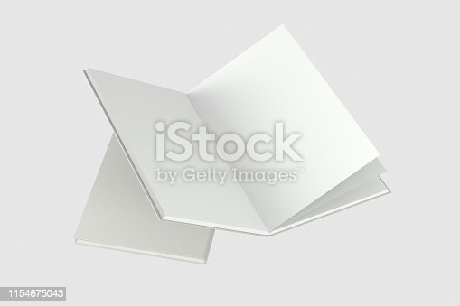 621728016istockphoto The organized hard cover notebooks, 3d rendering. 1154675043