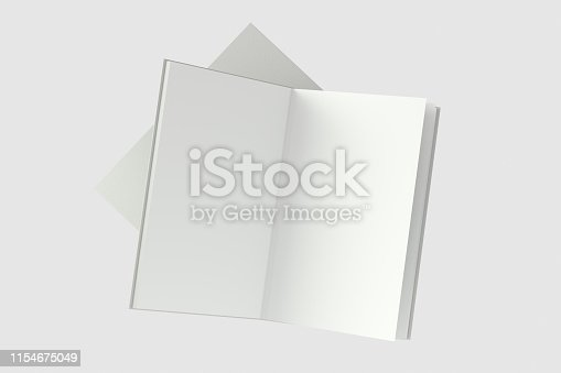 621728016istockphoto The organized hard cover notebooks, 3d rendering. 1154675049