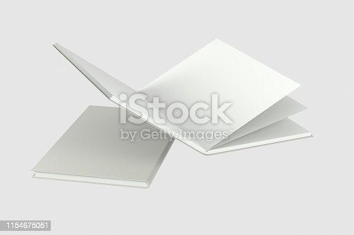 621728016istockphoto The organized hard cover notebooks, 3d rendering. 1154675051