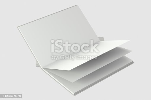 621728016istockphoto The organized hard cover notebooks, 3d rendering. 1154675078