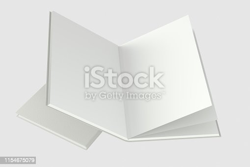 621728016istockphoto The organized hard cover notebooks, 3d rendering. 1154675079