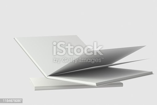 621728016istockphoto The organized hard cover notebooks, 3d rendering. 1154675097