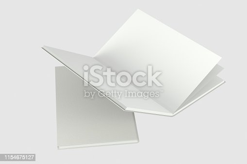 621728016istockphoto The organized hard cover notebooks, 3d rendering. 1154675127