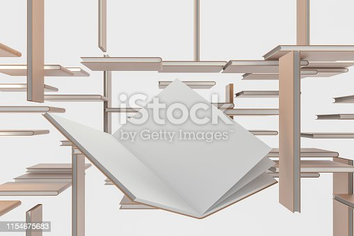 621728016istockphoto The organized hard cover notebooks, 3d rendering. 1154675683