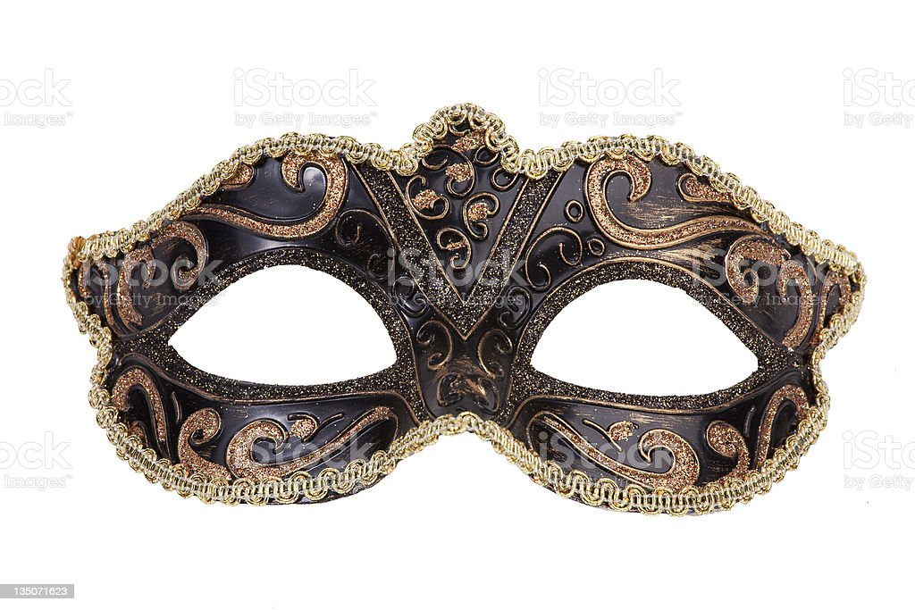 The original festive carnival mask gold royalty-free stock photo