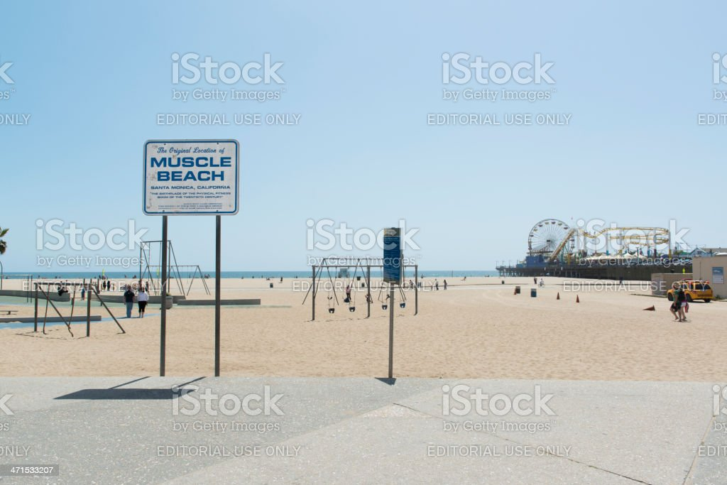The Original Muscle Beach royalty-free stock photo
