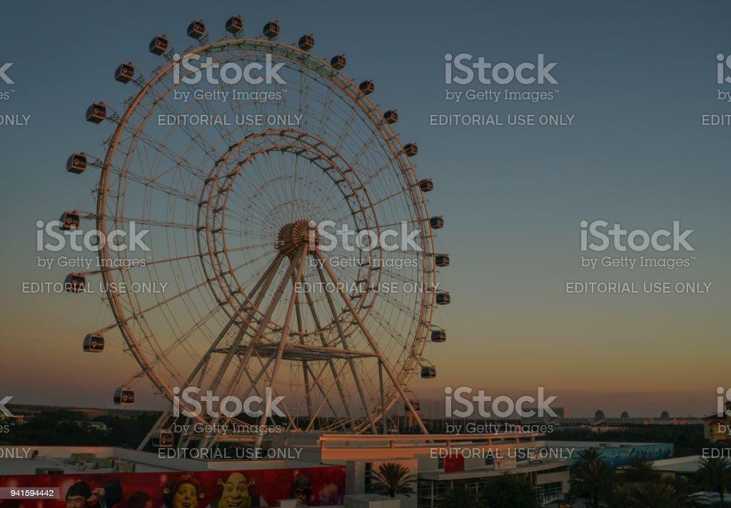 The Orlando Eye Ferris Wheel in Orlando Florida on International Drive stock photo