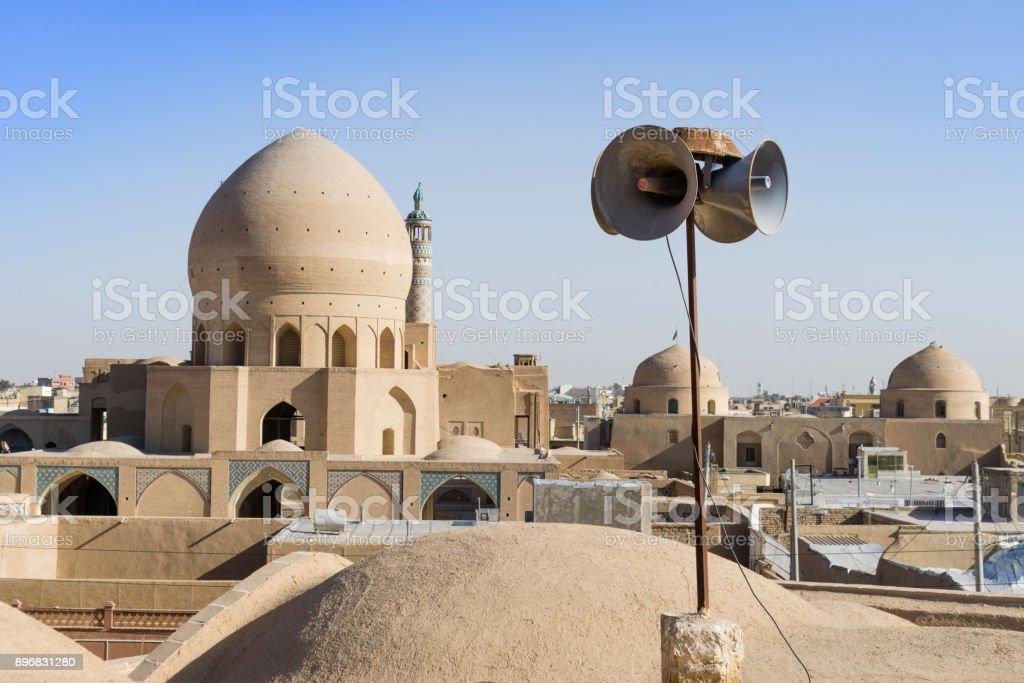 The Ornate Dome  of Boroujerdi House, Historic Kashan traditional house stock photo