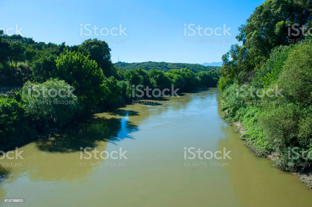 The Orontes River stock photo