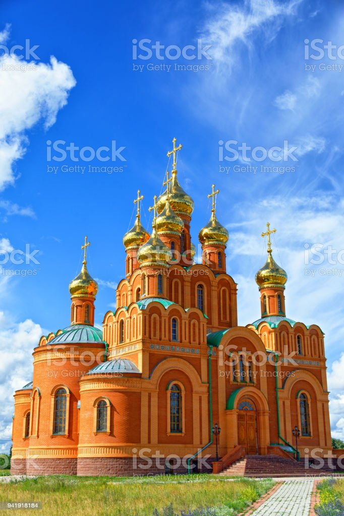The Orthodox Cathedral built in memory of the victims of the Gulag stock photo