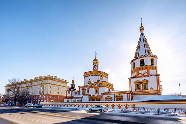 der orthodoxen kathedrale - russisch orthodoxe kirche stock-fotos und bilder