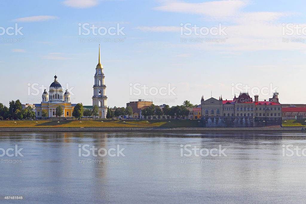 The orthodox temple in Rybinsk . Russia stock photo