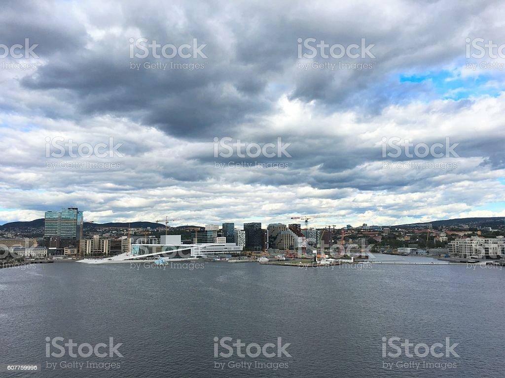 The Oslo skyline. stock photo