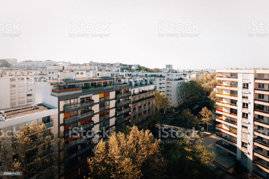The other side of Paris, France stock photo