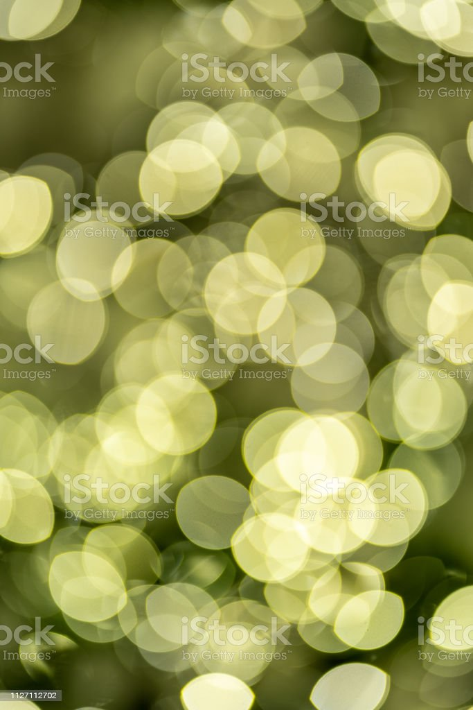The out of focus lights of a christmas tree stock photo