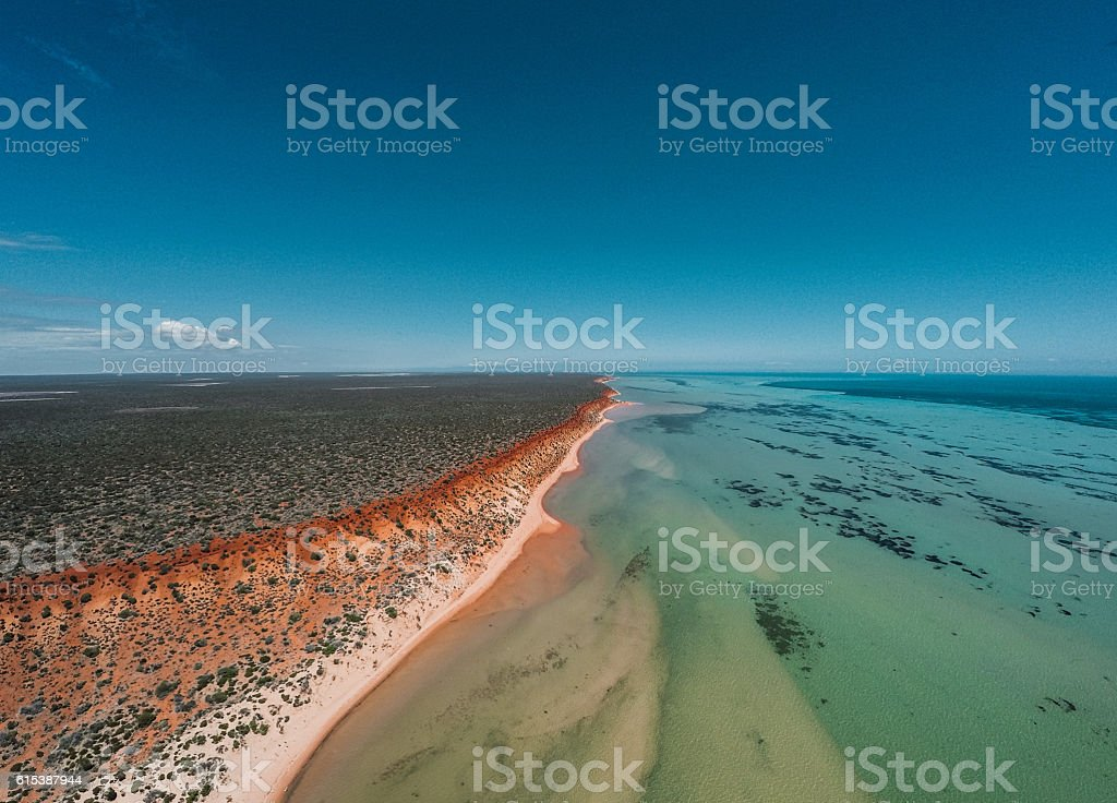 The Outback Meets The Sea stock photo