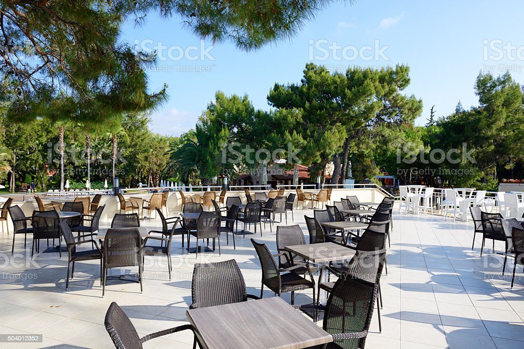 The Outdoor Restaurant At Luxury Hotel Antalya Turkey Stock Photo Download Image Now Istock