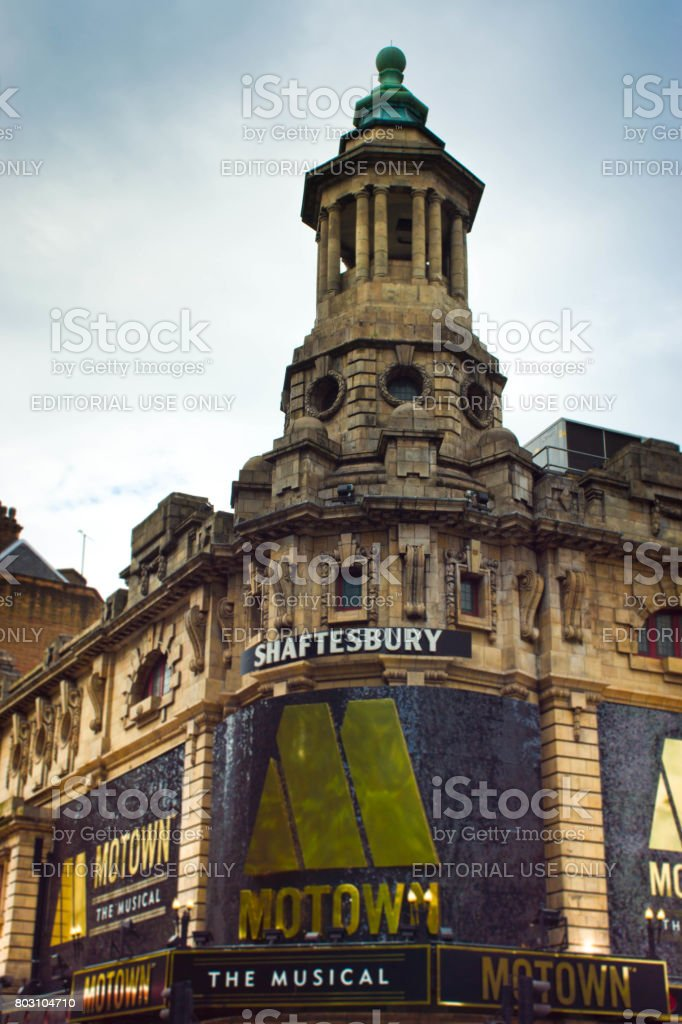 The outside of the Shaftesbury Theatre stock photo