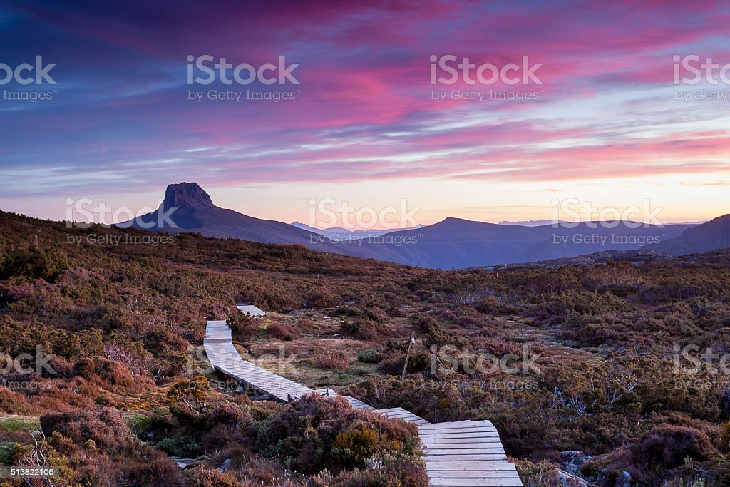 The Overland Track stock photo