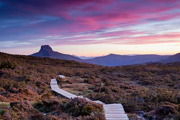 the overland track - tasmania stock pictures, royalty-free photos & images