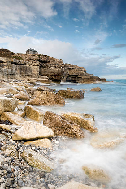the overlook at portland bill - pulpit rock dorset stock photos and pictures