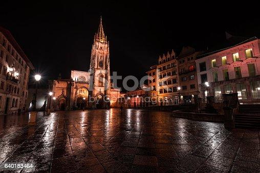 The Holy Church Basilica Metropolitan Cathedral of San Salvador de Oviedo.