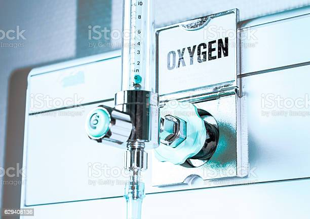 The Oxygen sensor calibration checker the instrument to check your oxygen calibration sensor in hospital room Abundance Stock Photo