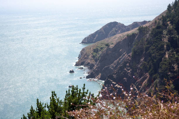 The Pacific Ocean on the PCH stock photo