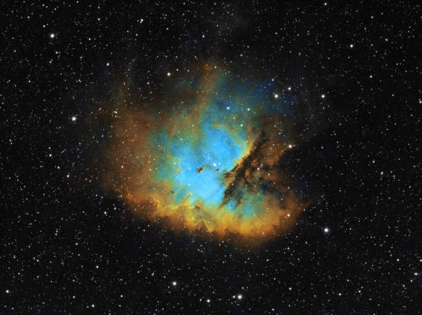 The Pacman Nebula (NGC 281) in the constellation Cassiopeia, HST image stock photo