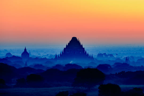 The pagoda of Bagan stock photo