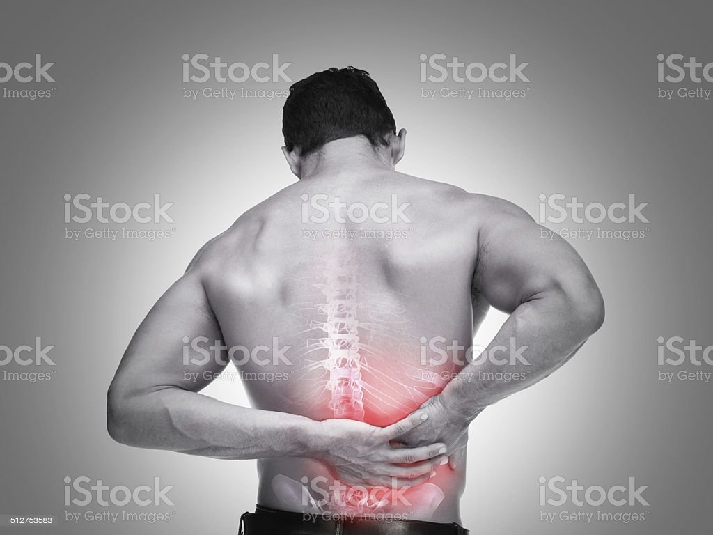 The pain is deep stock photo
