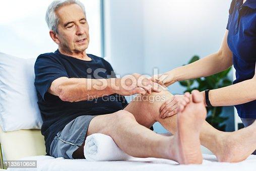 1133511905istockphoto The pain starts at the knee 1133610658