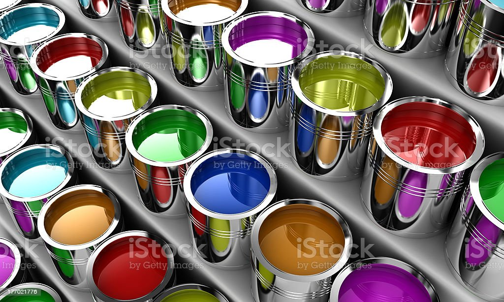 The paint royalty-free stock photo