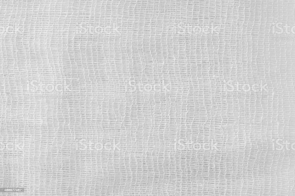 the painted gauze texture of white color stock photo