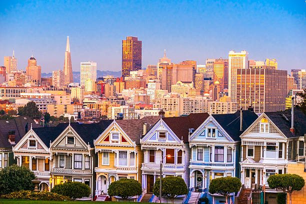 The Painted Ladies of San Francisco, California. USA. stock photo