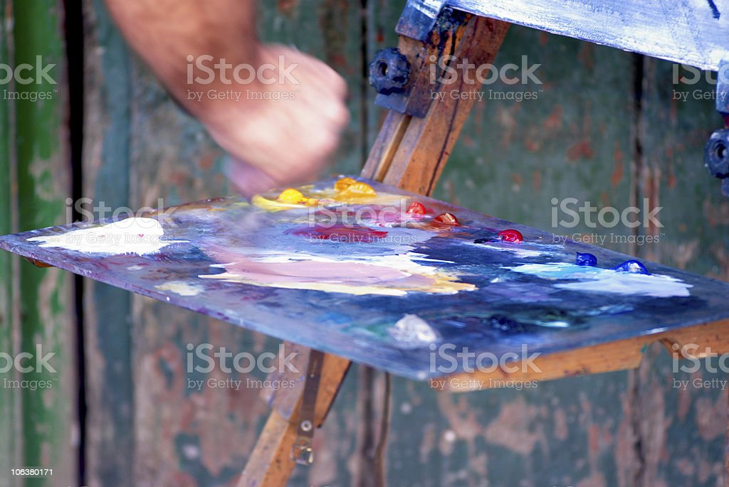 The painter hand royalty-free stock photo