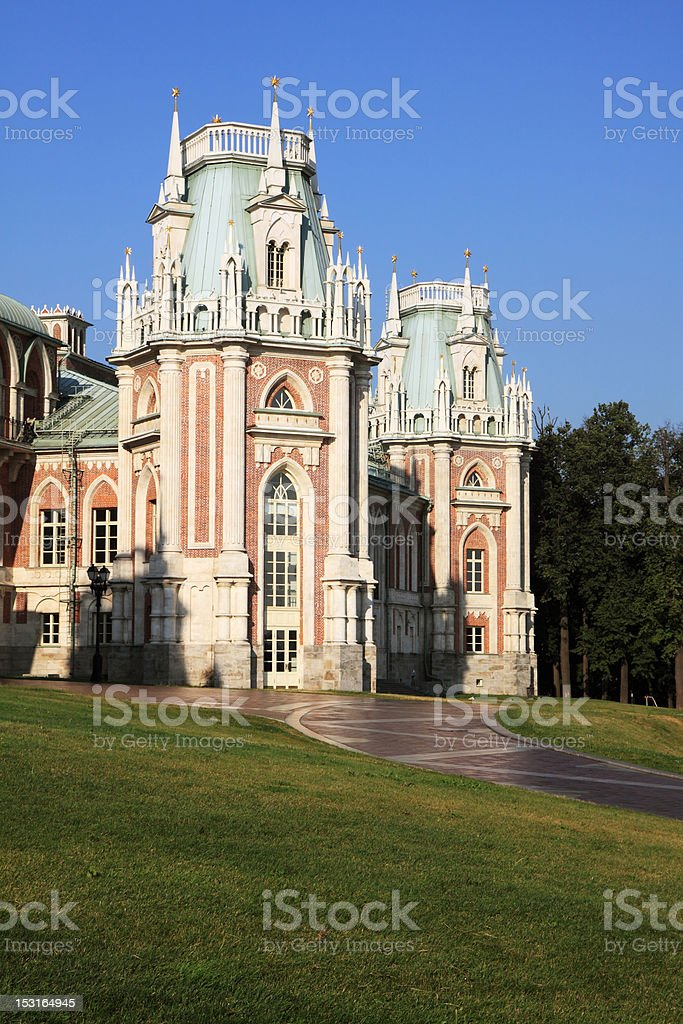 The palace in Moscow museum-reserve 'Tsaritsyno' royalty-free stock photo