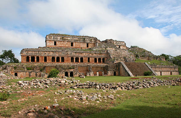 The Palace in Sayil stock photo