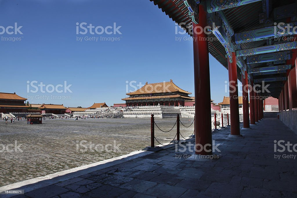the palace of chinese antiquity royalty-free stock photo