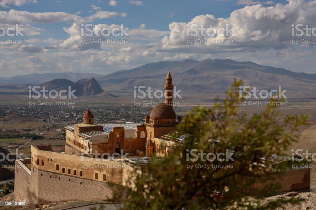 The Palace of Ishak Pasha in Dogubayazit, Agri - Turkey stock photo