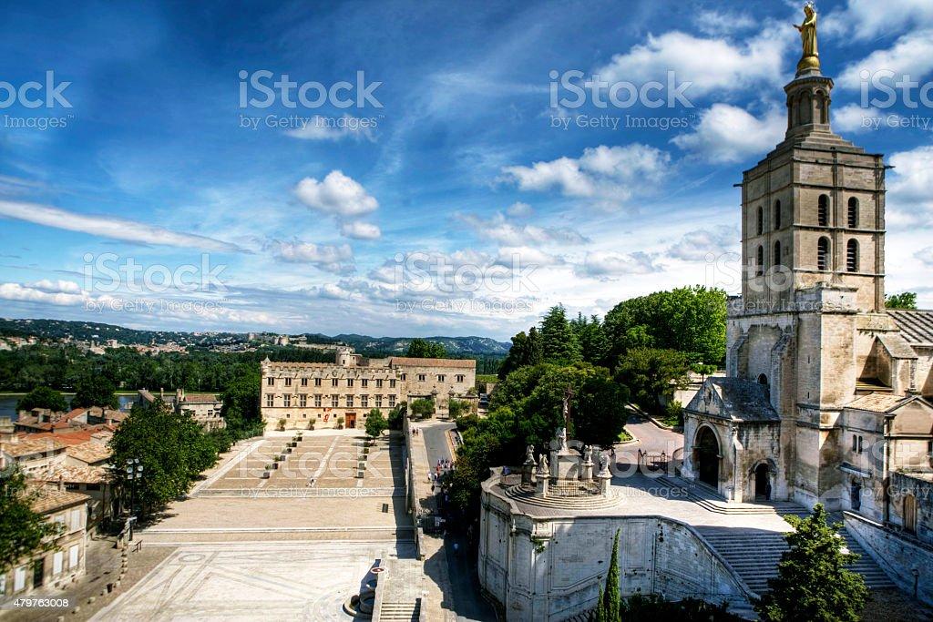 The Palace of Popes, Avignon, France stock photo