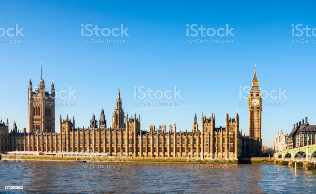 The Palace Of Westminster In London stock photo