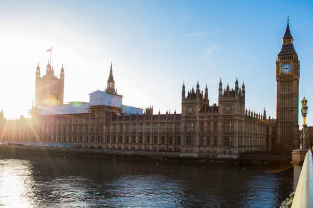 The Palace of Westminster stock photo