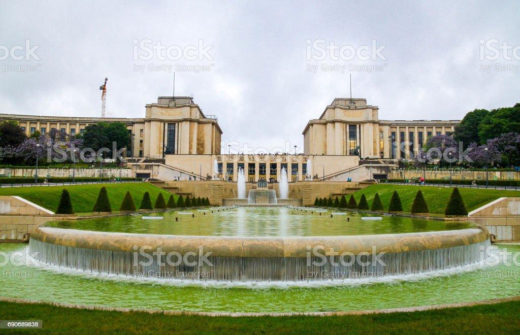 The Palais de Chaillot in Paris stock photo