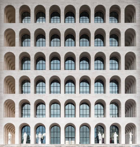 The Palazzo della Civilta Italiana, aka Square Colosseum, Rome, Italy - foto stock