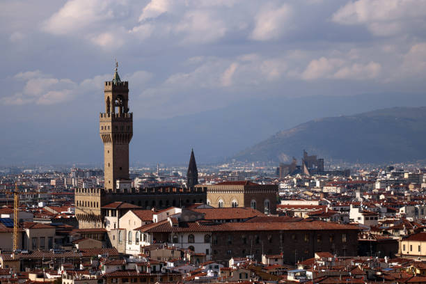 Der Palazzo Vecchio, das Rathaus von Florenz, Italien – Foto