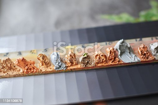 istock The palette of oil paints for painting 1134106878