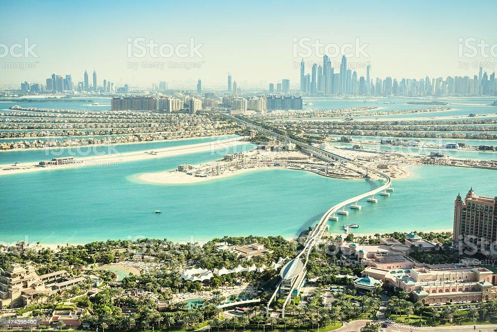The Palm Jumeirah, Dubai, UAE stock photo