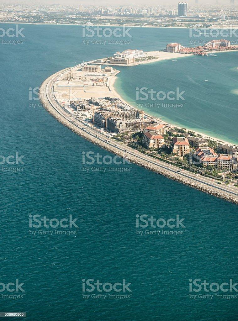 the palm jumeirah in Dubai stock photo